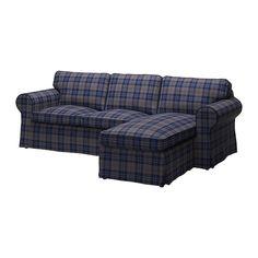 EKTORP Loveseat and chaise lounge - Rutna multicolor  - IKEA
