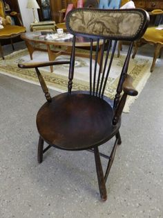 Late Victorian Solid Oak Chair In The RGF Showroom ---- Good Condition Was £45 Now £36 (PC058) Further Discounts Available Instore On Selected Items