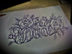 Labels Claddagh Tattoo Dad Font Script Rose