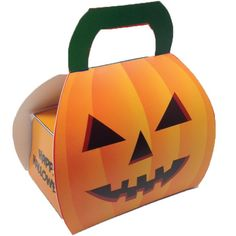 Custom Halloween Pumpkin Box - Mints, Candy, Food Gifts in custom Halloween boxes and packaging.