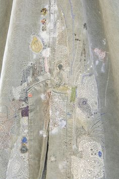 Junko Oki __ Tent_3 #embroidery    Embroidery this on a split in a skirt.