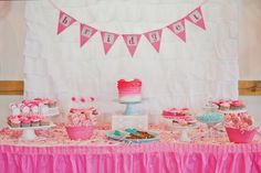 Bridget's Pink Ombre Party #1stbirthday #pinkombre #sweetbloomphotography
