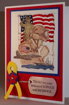 Courage and Service & Sacrifice - Stampin' Up!