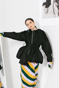 Black Wool, Hooded Jacket, Contrast, Clothes For Women, Long Sleeve, Jackets, Fashion, Jacket With Hoodie, Outerwear Women