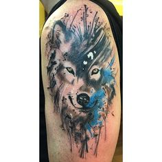 New Tattoo Watercolor Small Ideas Wolves Ideas Wolf Tattoo Forearm, Wolf Tattoos, Nature Tattoos, Animal Tattoos, Trendy Tattoos, New Tattoos, Small Tattoos, Tattoos For Guys, Tattoo Designs For Girls