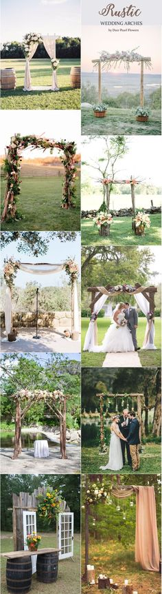 Rustic wedding arches & alter wedding ideas / http://www.deerpearlflowers.com/wedding-ceremony-arches-and-altars/