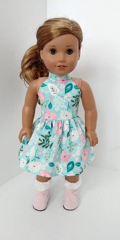 Fits like American girl doll clothes. Ropa American Girl, American Girl Dress, American Doll Clothes, Ag Doll Clothes, American Girl Doll Pictures, Our Generation Dolls, Doll Dress Patterns, Journey Girls, Cute Dolls