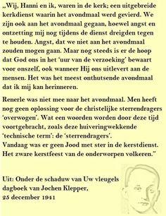 Quote. Renate en het avondmaal. Citaat uit dagboek Jochen Klepper