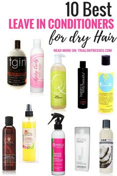 Hair Remedies Top 10 Best Leave In Conditioners For Dry Hair - If your hair is dry I've got some great products for you to try while doing the LOC method. Here's the best leave in conditioners for dry hair. Natural Hair Care Tips, Natural Hair Regimen, Natural Hair Growth, Natural Hair Styles, Natural Hair Care Products, Curly Hair Products, Beauty Products, Black Hair Products, Best Natural Hair Products