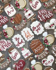 Wedding season is coming. To celebrate the bridal shower and wedding ceremory, we should add some beautiful wedding and bridal shower cookies. Enjoy these wedding cookies and bridal shower cookies. Try this Wedding and Bridal Shower Cookies Marry Me Bridal Shower Cakes Rustic, Wedding Shower Cookies, Cookies For Wedding, Cute Cookies, Sugar Cookies, Baby Cookies, Heart Cookies, Valentine Cookies, Easter Cookies
