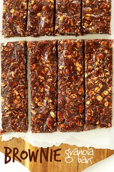 Healthy Brownie Granola Bars