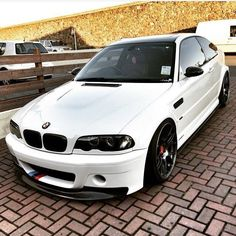 BMW E46 M3 | M3 | White | Dream BMW | BMW | BMW M series | Bimmer | BMW USA | Rims | Dream Car | car photography | Schomp BMW
