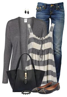 Summer To Fall Outfit by daiscat on Polyvore featuring polyvore, fashion, style, Vero Moda, Aspesi, True Religion, Eddie Borgo, Jamie Joseph and clothing