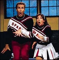 """""""Who's that Spartan in my teepee? It's me! It's me!""""  SNL  Will Ferrell & Cheri Oteri"""