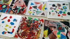 """Cercate un laboratorio per scuole primarie e secondarie che parli di arte e sostenibilità? MicroMacro Art, dalla tavolozza alla tela, un laboratorio creativo sui legumi, per piccoli grandi artisti! Ecco cosa può accadere se si parla di legumi, Klee, Kandinskij e di """"biomorfismo astratto"""" (cioè di tutte quelle forme prese in prestito dalla Natura). Qui siamo in una seconda elementare di #ravenna.   #arte #legumi #fatabutega #sostenibilità"""