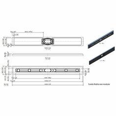 "Wedi Fundo Riolito Neo Modular Shower System - Base/Drain - 48"" x 5-3/4"" Drain Module Shower Systems, Spa Items, Steam Bath, Base, Design System, Wet Rooms, Modular Design, New Construction"
