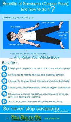 Benefits of Savasana and how to do it?
