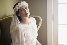 CONSTANCE WEDDING HALO & ENGLISH NET VEIL   Erica Elizabeth Designs and Pretty Things Wedding Acccesories