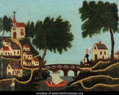 Landscape with Bridge - Henri Julien  Rousseau - www.henrirousseau.org