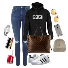 """BALR"" by amuramasri on Polyvore featuring adidas Originals, Louis Vuitton, Essie, Chanel, Calvin Klein, Linda Farrow and adidas"