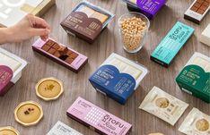 Dessert Packaging, Food Packaging, Packaging Design, Branding Design, Japan Branding, Snack Recipes, Snacks, Client Gifts, Smile Because