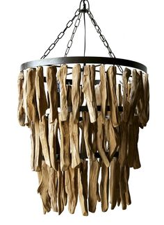 """Creative Co-Op Driftwood Chandelier, 19.75"""" Round by 20"""" Height"""
