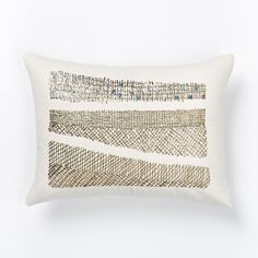 Embroidered Metallic Sequin Stripe Pillow Cover | west elm
