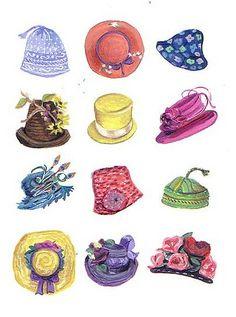 Hot hats by harryillustration, via Flickr