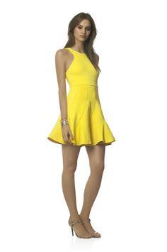 Agilità Brazilian Fashion yellow skater dress