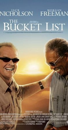 Directed by Rob Reiner. With Jack Nicholson, Morgan Freeman, Sean Hayes, Beverly Todd. Two terminally ill men escape from a cancer ward and head off on a road trip with a wish list of to-dos before they die. Good Comedy Movies, Film Movie, Hd Movies, Movies Online, Drama Movies, Jack Nicholson, Bucket List Movie, Bucket Lists, Trailers