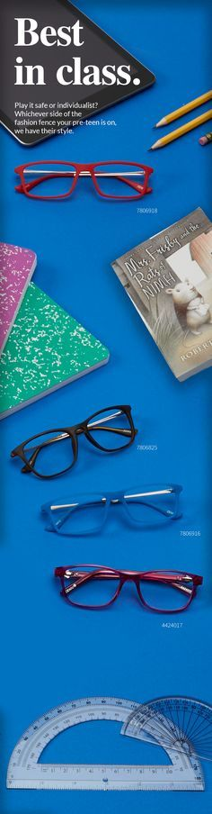 Gear up for the new school year with stylish, affordable eyewear for your middle schooler.