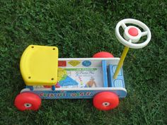 Vintage Toy Fisher Price Creative Coaster 1964  No 987  Toddler Ride on Toy. $20.00, via Etsy.