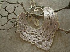 Natural colour crochet necklace