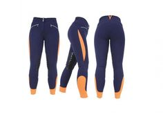 * Ladies Navy & Orange Hy Sports Active Breeches - August Offer! *