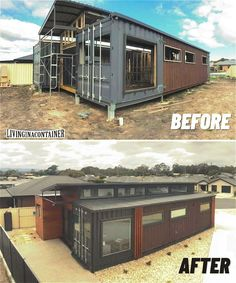 Shipping Container Home Designs, Shipping Container House Plans, Container House Design, Shipping Containers, Building A Container Home, Container Buildings, Container Homes Australia, Usa Living, Casas Containers