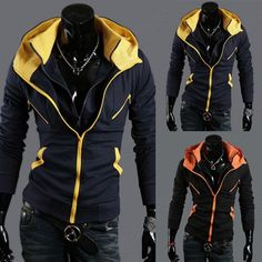 Discount China china wholesale NWT Men's Slim Blazers Coats Zip UP Hoodies Jackets Casual SWEATER Outerwear Black Navy [31164] - US$36.86 : DealsChic