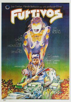 Cartel de Iván Zulueta para «Furtivos» (1975, José Luis Borau)