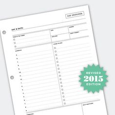 Free Daily Planning Page from @DayDesigner