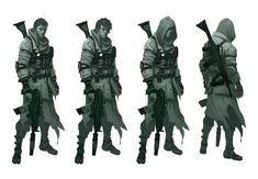 Also posted are the first character models I've built in a looong time. I had fun dusting off the old low-poly skills.