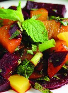 Moroccan Mint Beet Salad, a healthy and refreshing salad