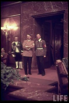 Adolf Hitler and Albert Bormann at party reception at Führerbau, 25 February 1939