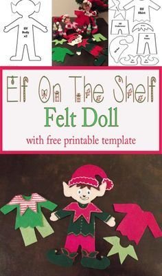 Crafts elf hat and hat template on pinterest for Elf shelf craft show