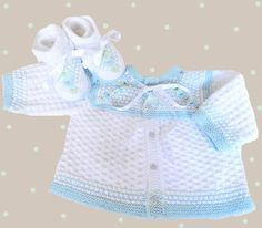 Hand knitted baby set knitted baby sweater by Svetlanababyknitting