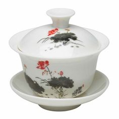 "Gaiwan tea cup: ""Traditional Lotus Flower"""