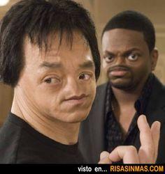 Chris Tucker y Jackie Chan sin nariz.