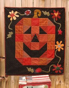 Smiling Pumpkin quilt pattern at Memes Quilts