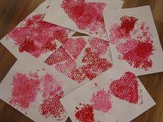 Heart Bubble Wrap Painting 5
