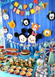 ディズニーツムツムをテーマにした誕生日パーティー演出
