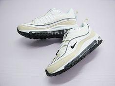 c447098aae87 Nike Air Max 98 Fossil Unisex White Light Yellow Black Ah6799-102 Shoe