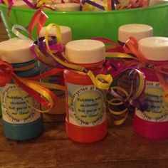 "Back to school treats...""Bubbling with excitement that you're in our class!"""